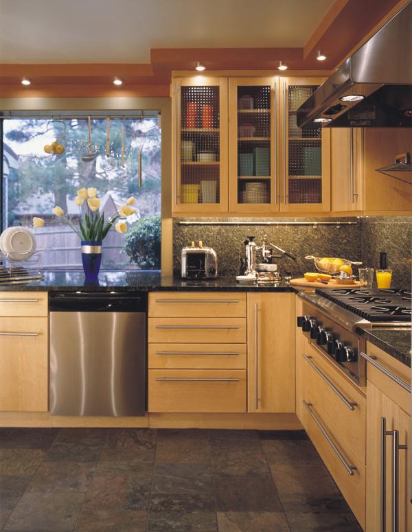 Modern kitchen design gallery triangle kitchen - Kitchen triangle design with island ...