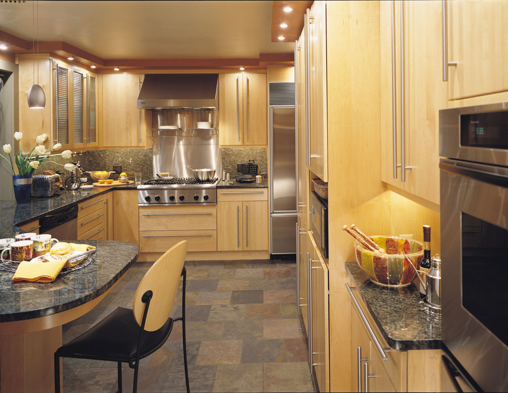 Kitchen design gallery triangle kitchen for Modern kitchen gallery
