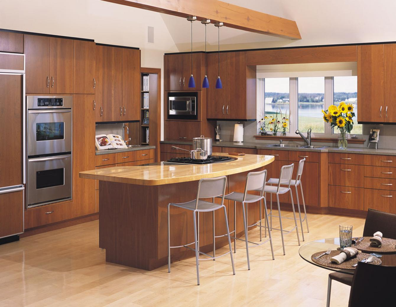 Kitchen design gallery triangle kitchen for Kitchen designs pics