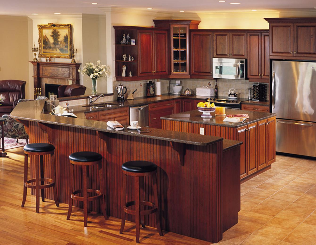 Kitchen design gallery triangle kitchen for Kitchen design ideas photo gallery